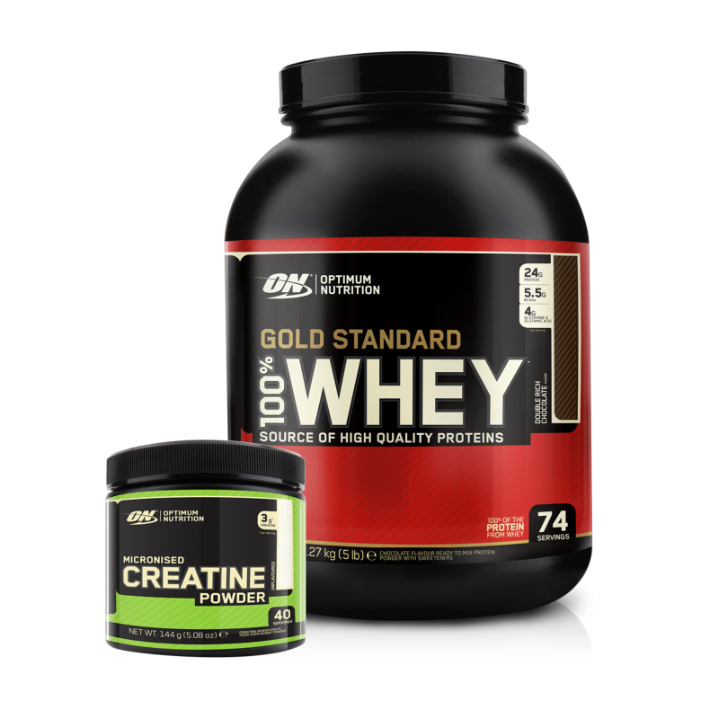 Optimum Nutrition Gold Standard 100% Whey 2.27kg + *FREE* Creatine 145g.