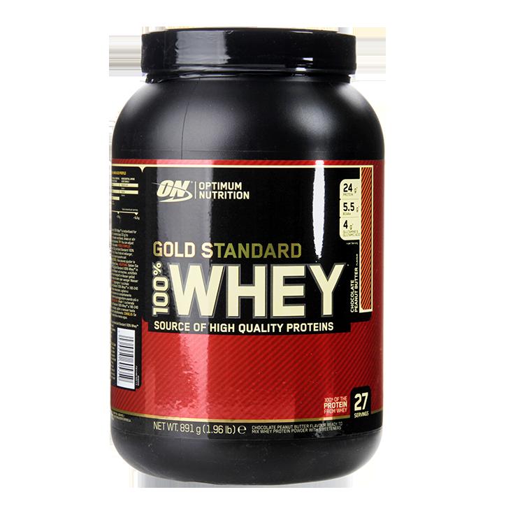 Optimum Nutrition Gold Standard 100% Whey Powder.