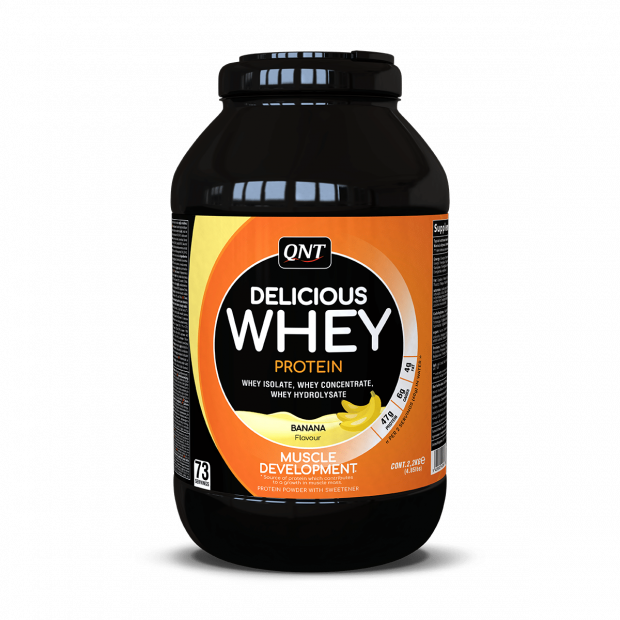Delicious Whey Protein Powder Banana 2,2 kg.