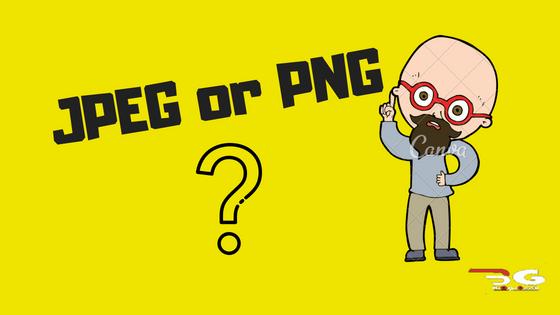 PNG vs JPEG.