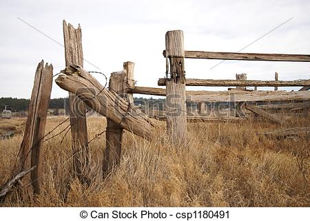 Stock Photography of Whidbey Island Fence #1.