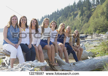 Picture of Family reunion, Fox Spit; Whidbey Island, Washington.