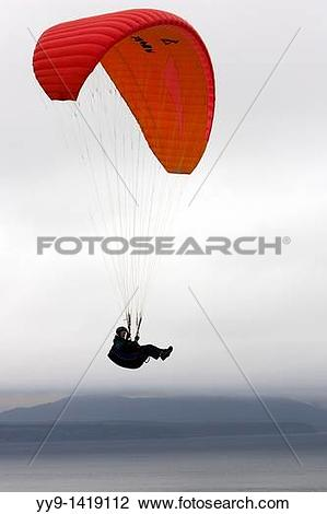Stock Photo of Paraglider.