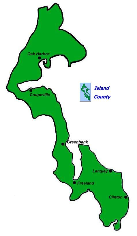 Whidbey Island Map.