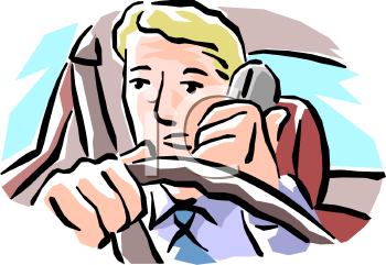 Man Talking on the Phone While Driving.
