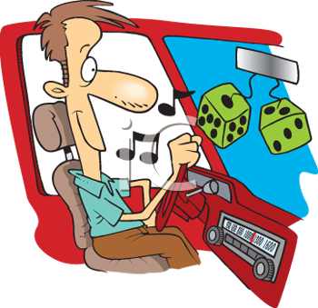 Royalty Free Clipart Image: Cartoon of a Man Listening to the.