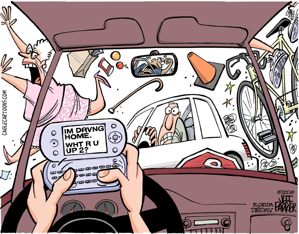 Texting And Driving Clipart.