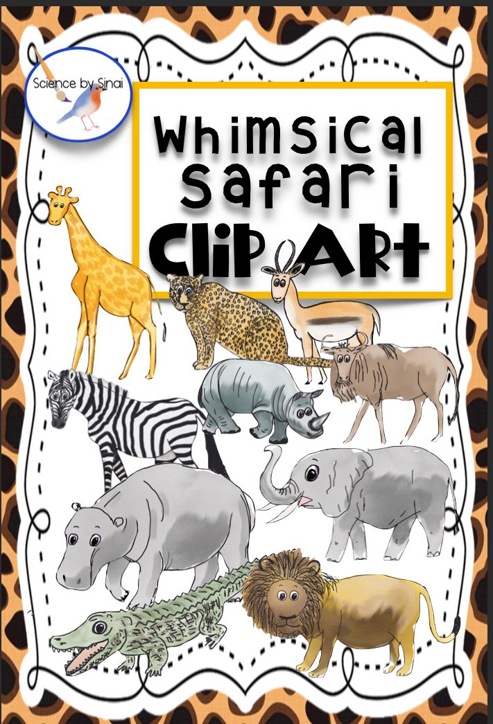 whimsical animals with clothes clipart #4