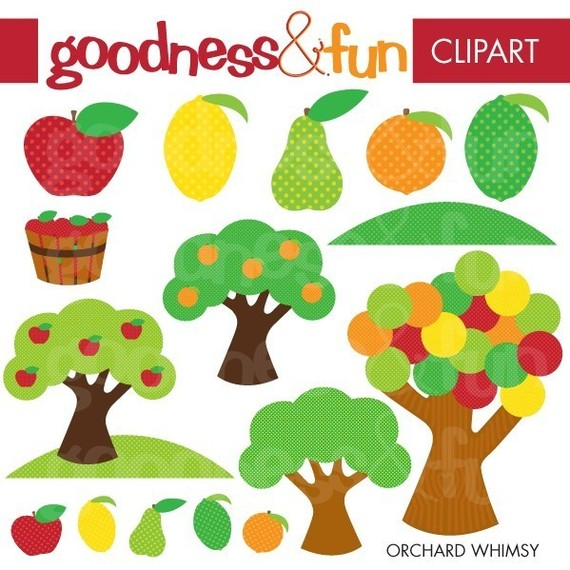 Apple Orchard Clip Art Set Apples Apple by.