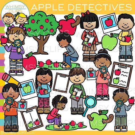 Apple Detectives Clip Art.