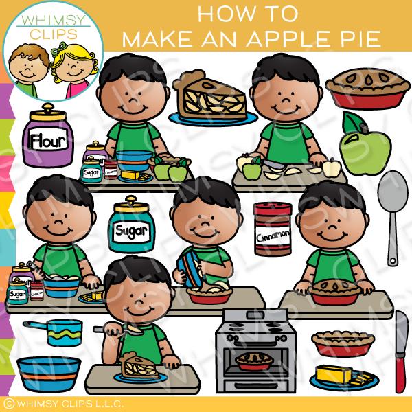 How to Make an Apple Pie Clip Art.