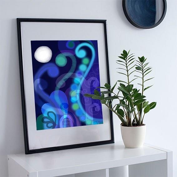 whimsical blue dresser clipart #3