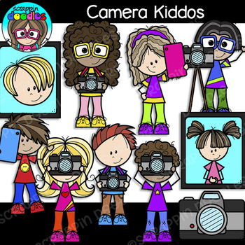 Camera Kiddos Clipart {Scrappin Doodles Clipart}.