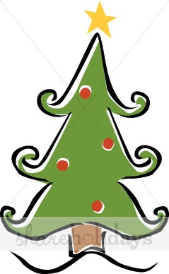 Whimsical Christmas Trees Clipart.