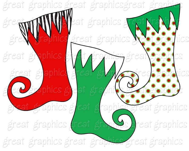 Christmas Clipart Christmas Stocking Clip Art Digital.
