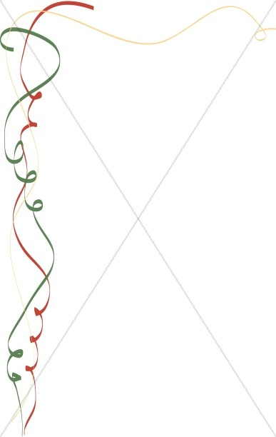 Green and Red Whimsical Ribbon.
