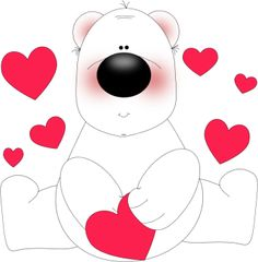 Whimsical Heart Clip Art.