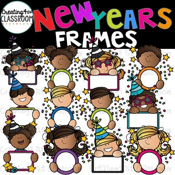 New Years Frames Clipart {New Years Clip art}.