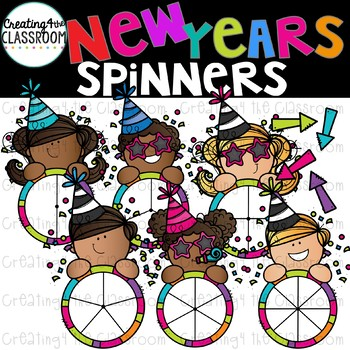 New Years Spinners Clipart {New Years Clip art}.