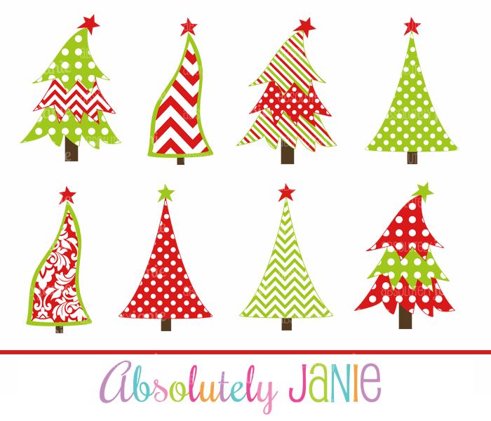 Whimsical Christmas Tree Clipart.