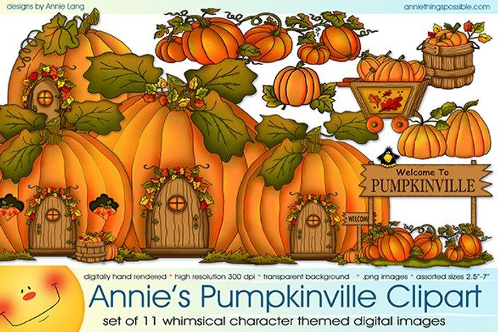 Pumpkinville Clipart.