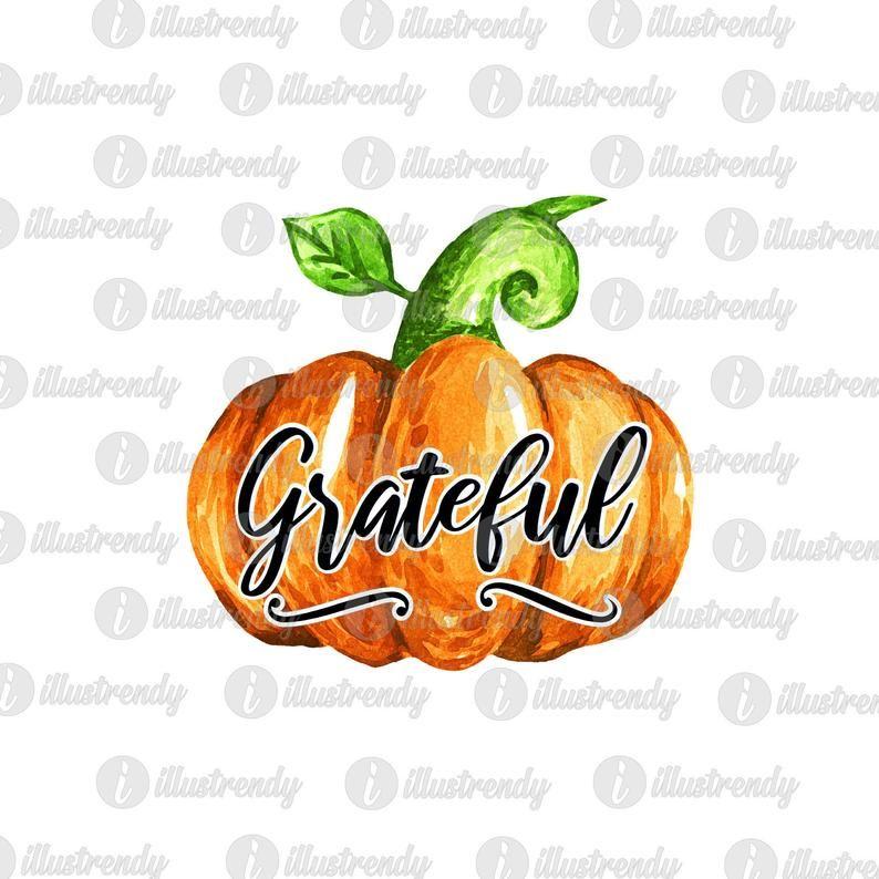Grateful Pumpkin Sublimation Design.