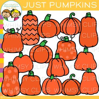 Various Pumpkins Clip Art { Fall Clip Art}.