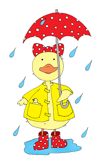 Free Dearie Dolls Digi Stamps: Rainy Day Duckie.