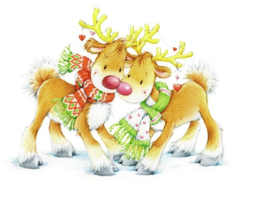 Whimsical cartoon pair of reindeer clipart big 1117x858.