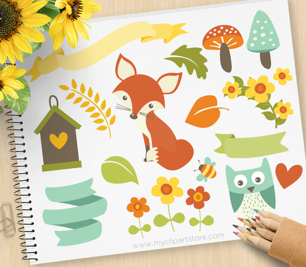 Woodland Whimsy Clipart.