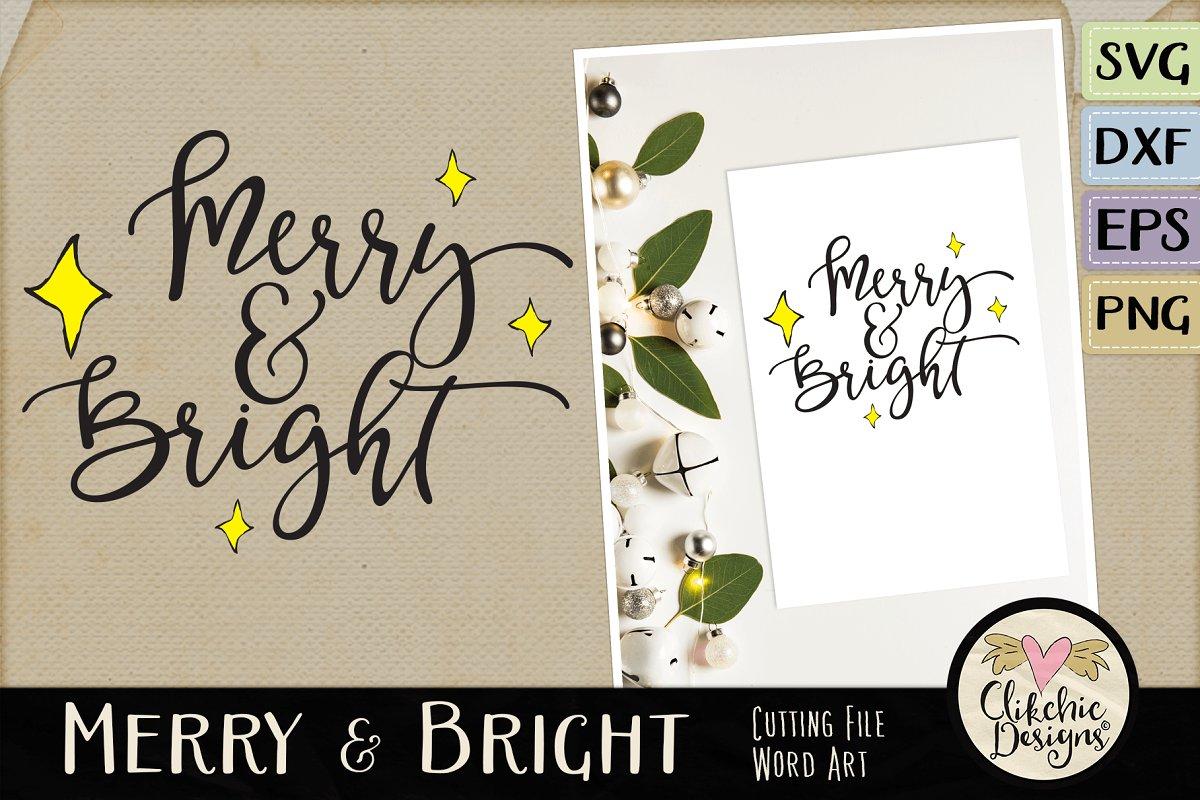 Merry & Bright Vector SVG Clipart ~ Illustrations ~ Creative.