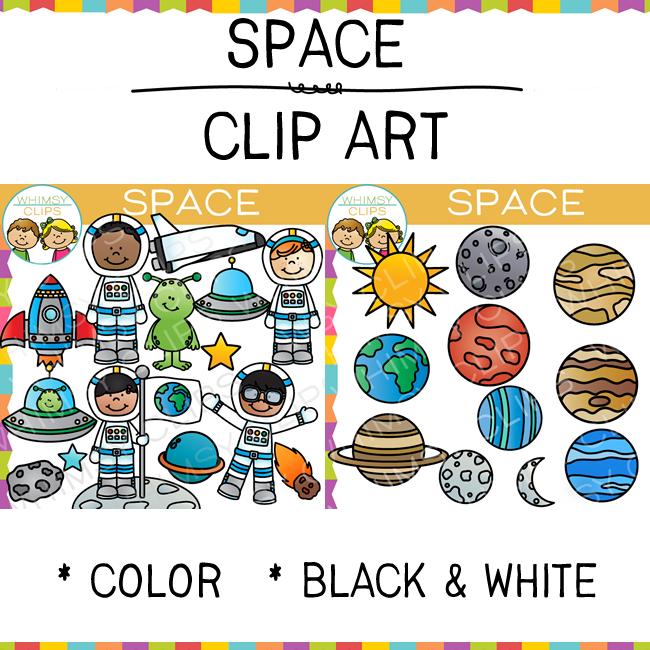 Kids Space Clip Art.