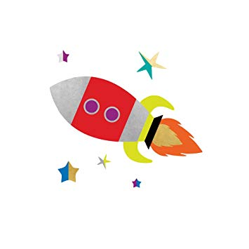 SPACE EXPLORER ROCKET SHIP party tats set of 25 premium Fun Tats kids  waterproof temporary.