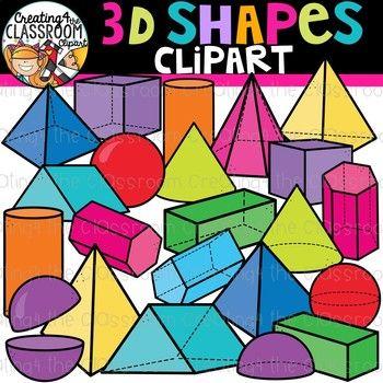 3D Shapes Clipart {Shapes Clipart}.