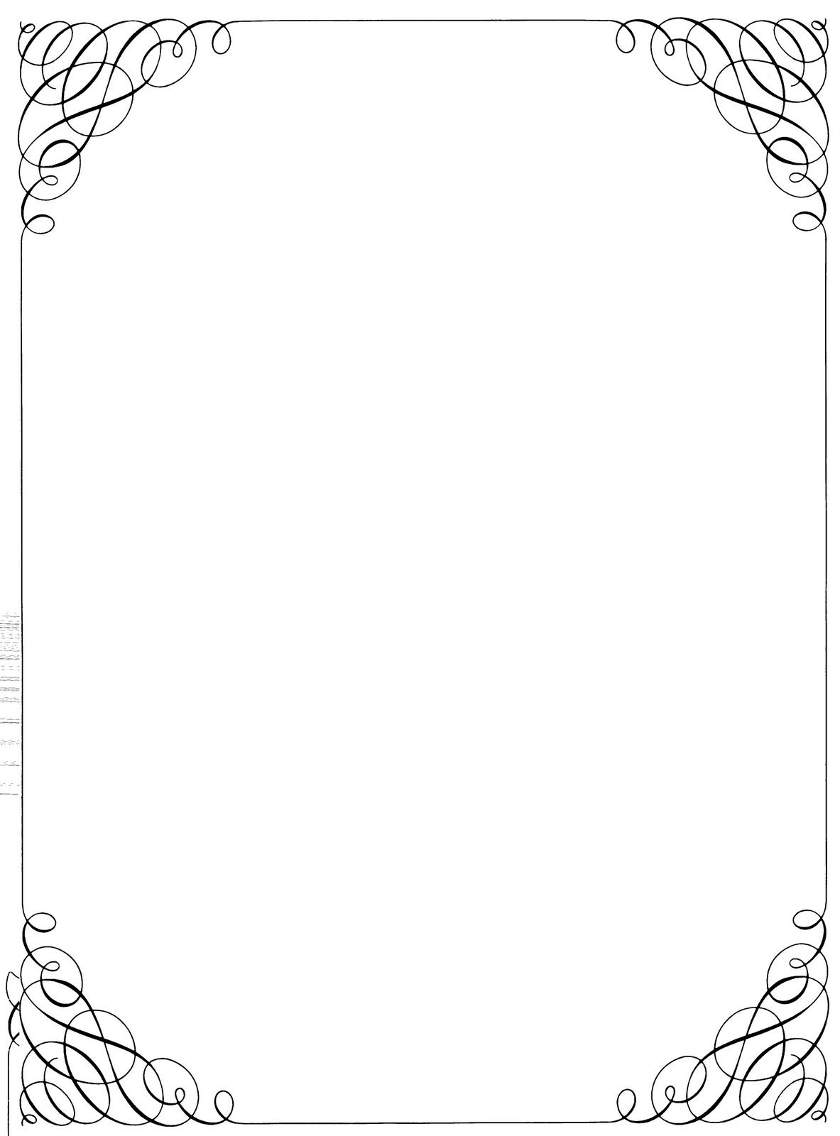 Black And White Christmas Borders And Frames 110 x 150.