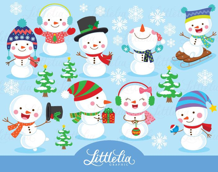 whimsical snowman clipart clipground