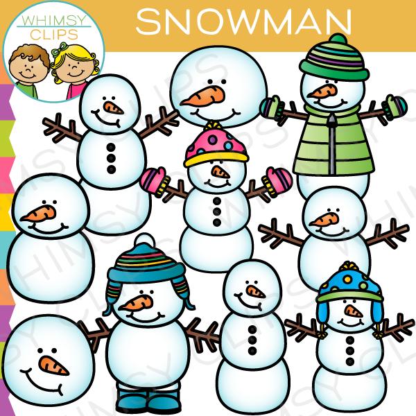 Winter Snowman Clip Art , Images & Illustrations.