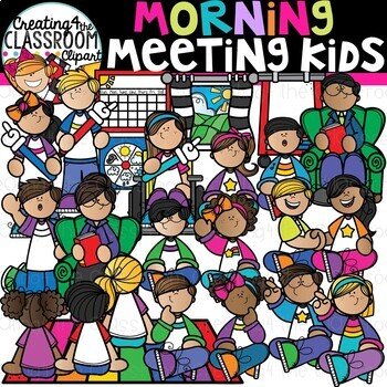 Morning Meeting Kids Clipart {School Clipart}.