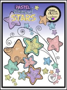 Pastel Whimsical Stars Clipart.