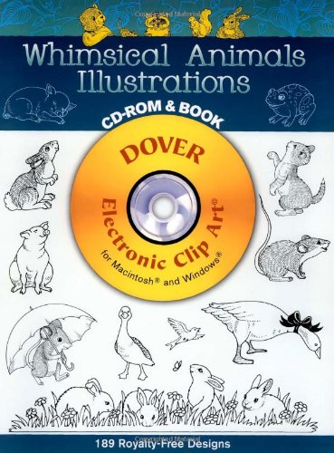 9780486999739: Whimsical Animals Illustrations CD.