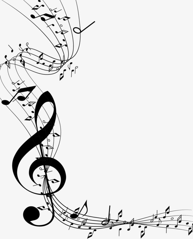 Vector Painted Sheet Music And Music Symbol, Vector, Hand.