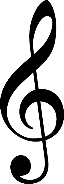 Treble Clef Without Line clip art (109697) Free SVG Download.