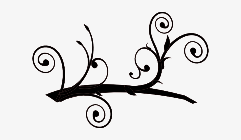 Dark Whimsy Branch Clip Art At Clker.