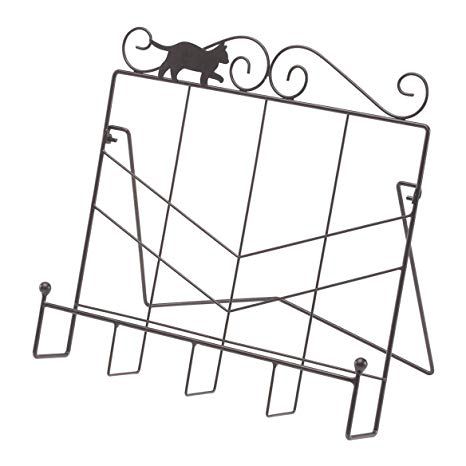 Whimiscal Cat Cookbook Holder by Home Style Kitchen.