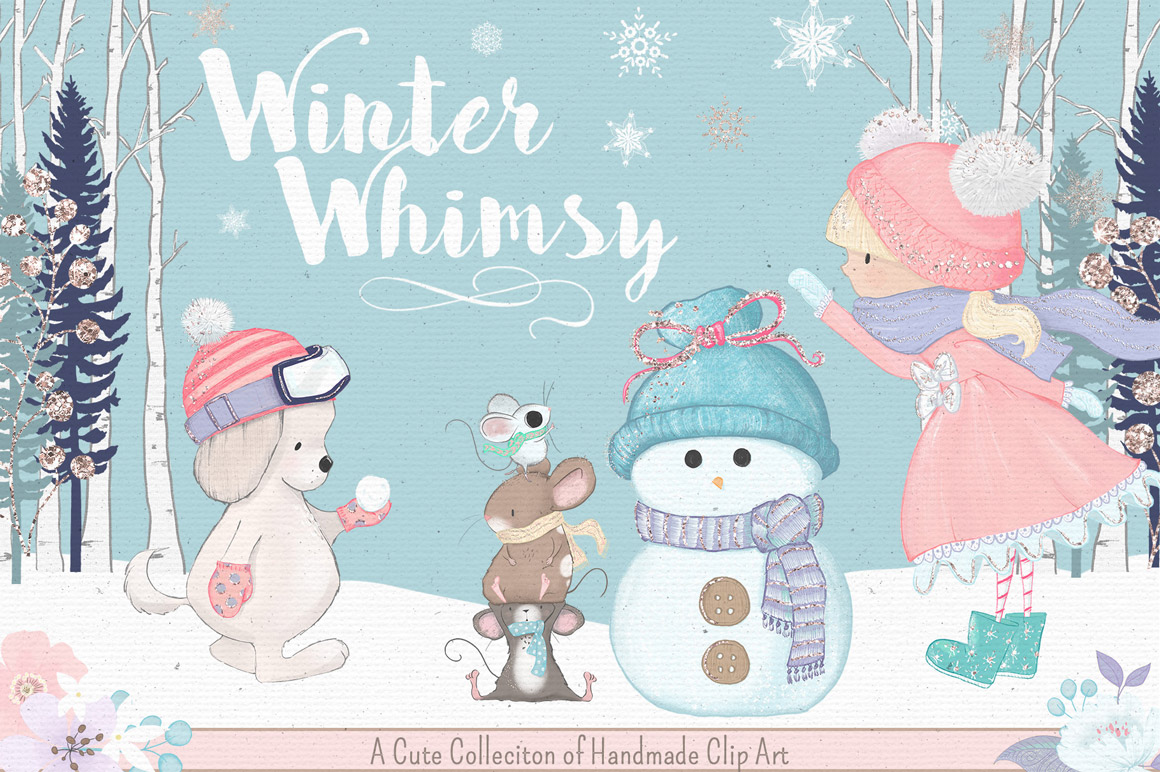 Winter Whimsy Clip Art Kit.