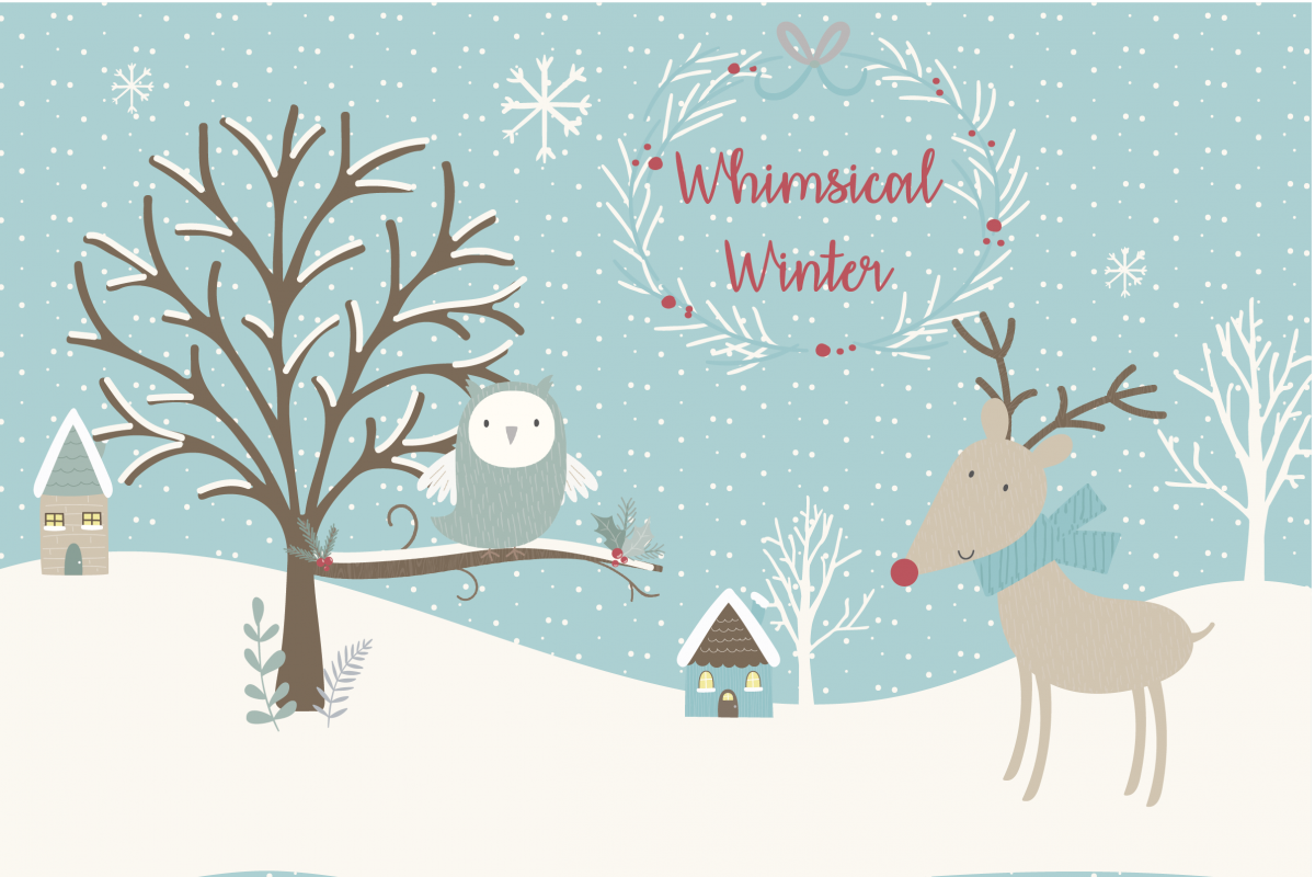 Winter Thank You Clipart.