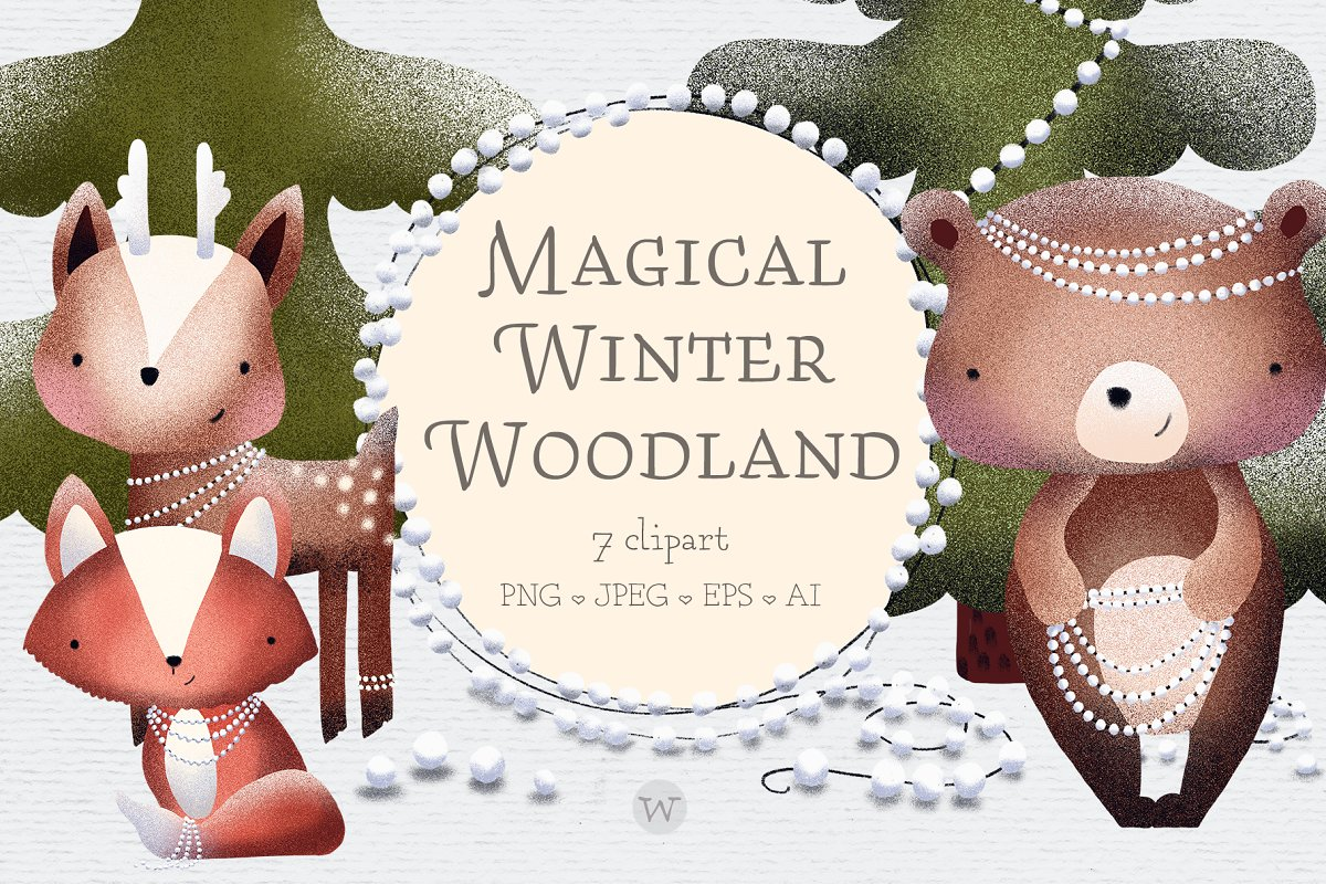 Woodland creature clipart.