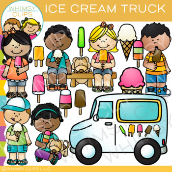 Ice Cream Truck: Ice Cream Clip Art by Whimsy Clips.