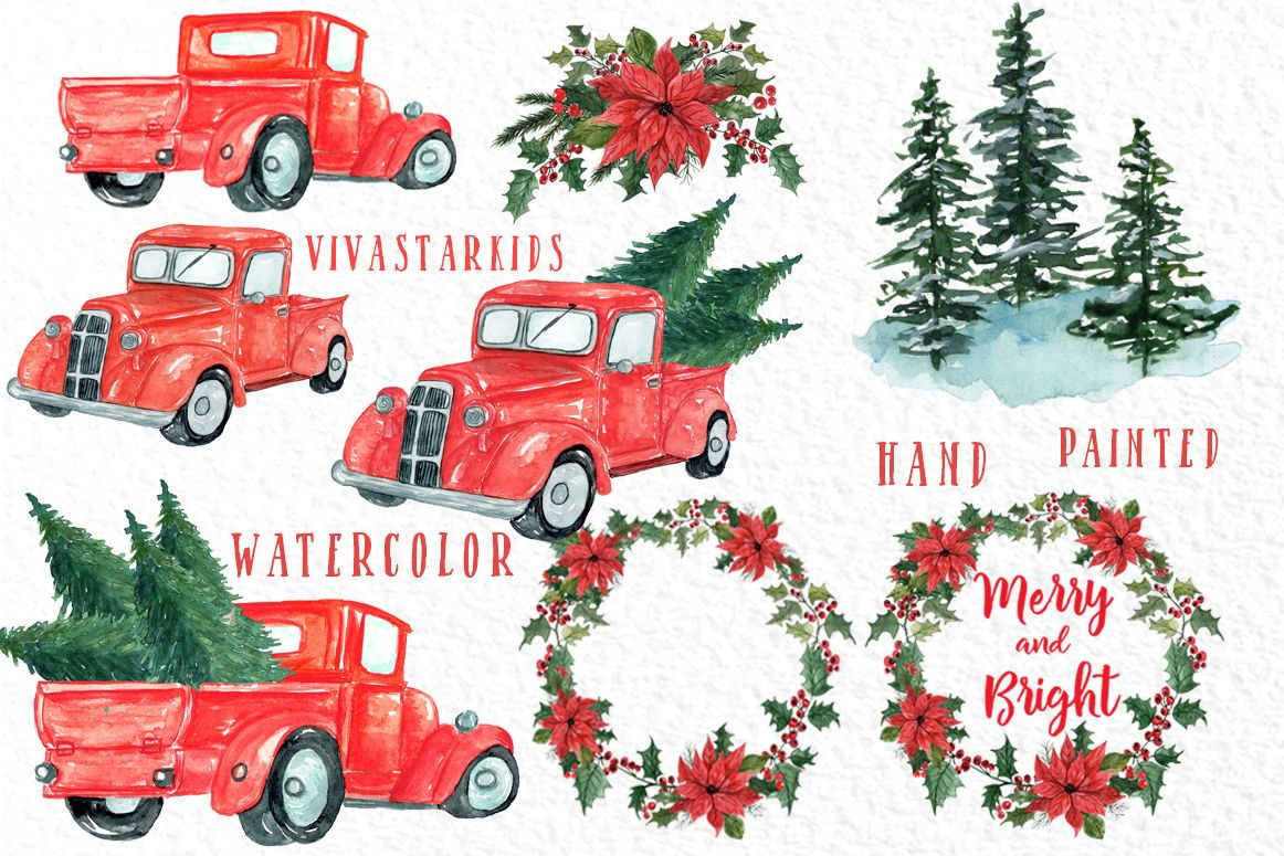 Christmas Truck clipart: \