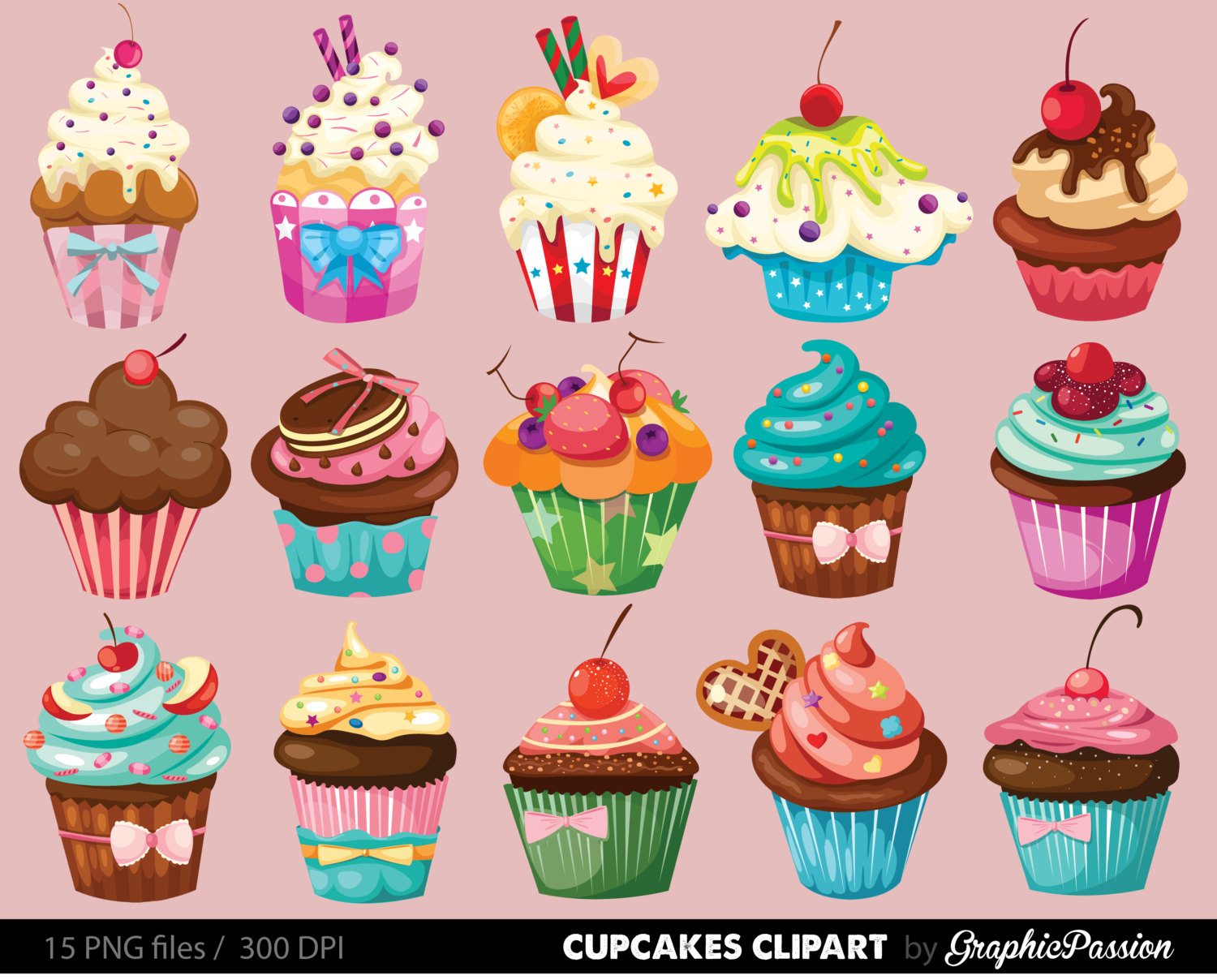 Download Free png Whimsical Cupcake Png.